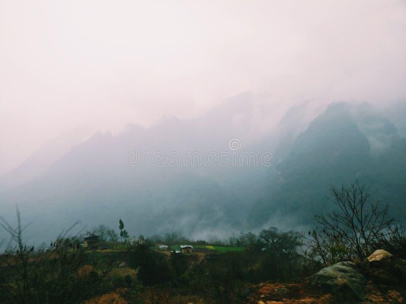 有雾 库存图片