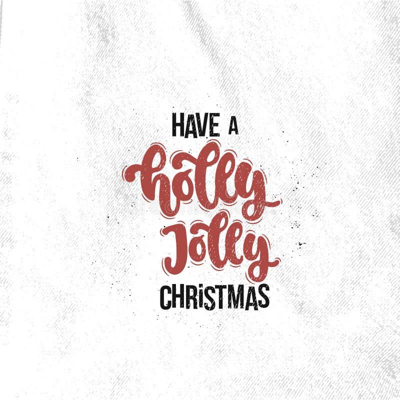 有霍莉快活的圣诞节 向量例证