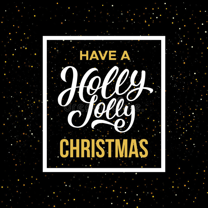 有霍莉快活的圣诞节 也corel凹道例证向量 库存例证