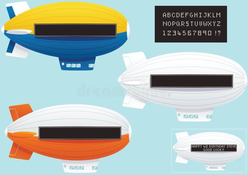 Download 有霓虹灯广告和文本的软式小型飞艇 向量例证. 插画 包括有 盲人, 演奏台, 飞船, 膨胀, 复制, 云彩 - 72359098