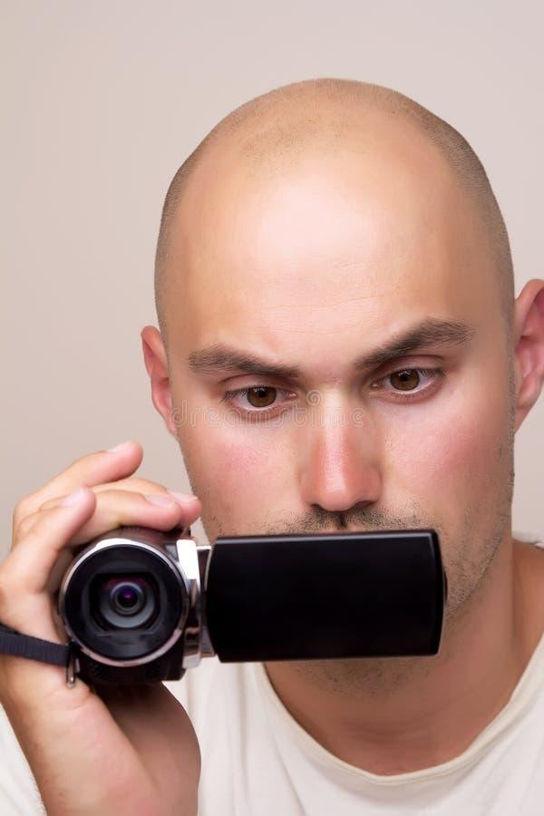 有非职业数字式摄影机的人 免版税库存图片