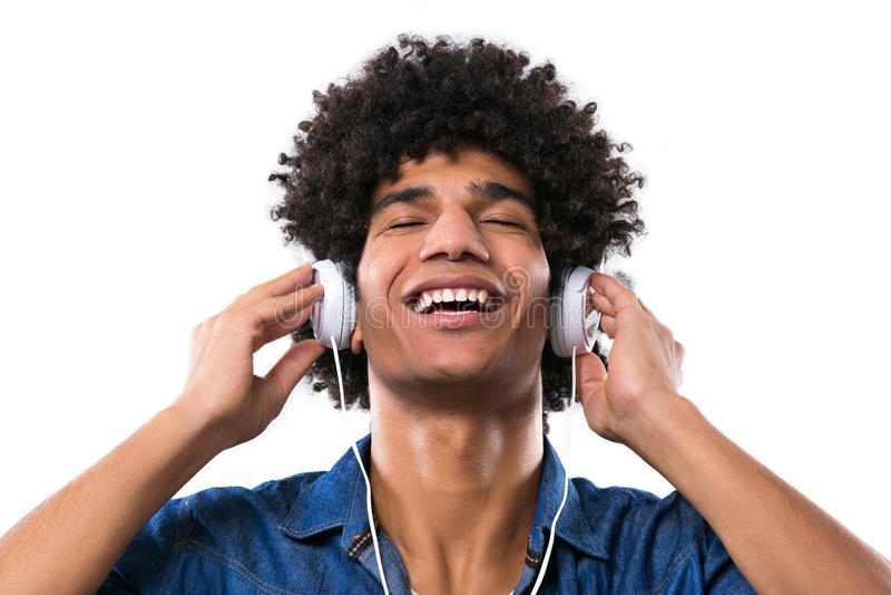 有非洲的享用的音乐的人 免版税库存照片
