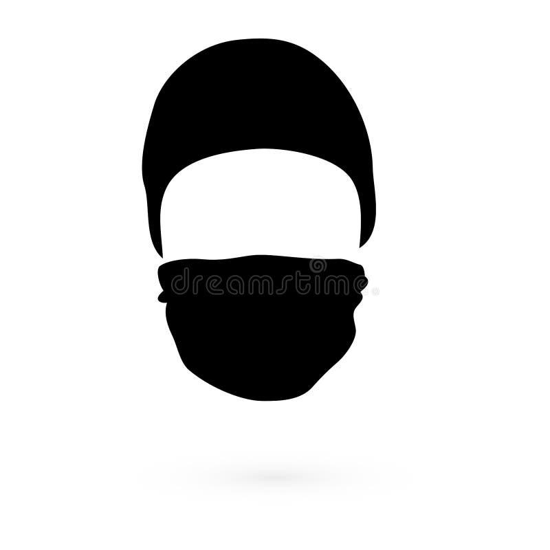 有面具的黑帽会议 光栅 1 向量例证