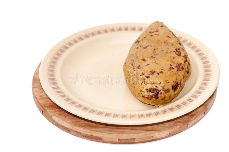 有面包屑的巴尔干烹调鸡肝 库存照片