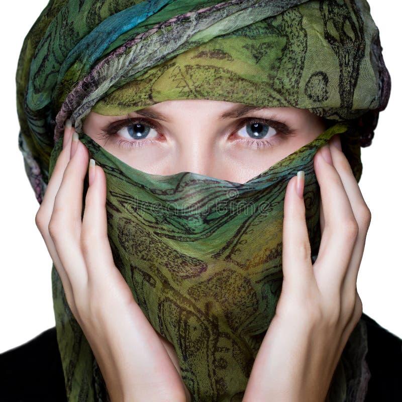 有面纱的妇女 免版税库存照片