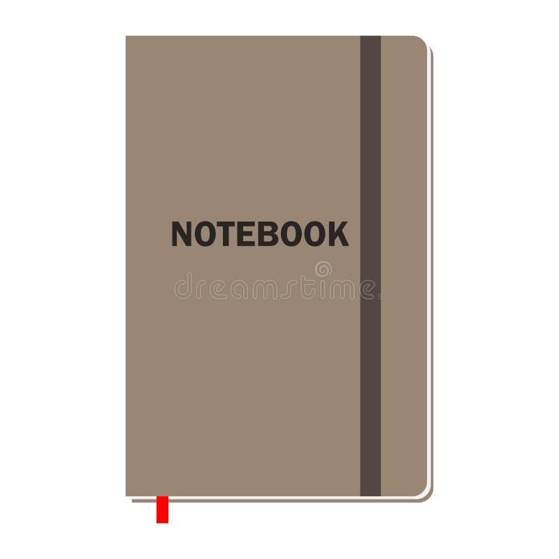 有页的笔记本动画或另外设计的 皇族释放例证