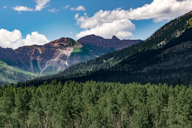 有顶饰小山科罗拉多山风景 免版税库存照片