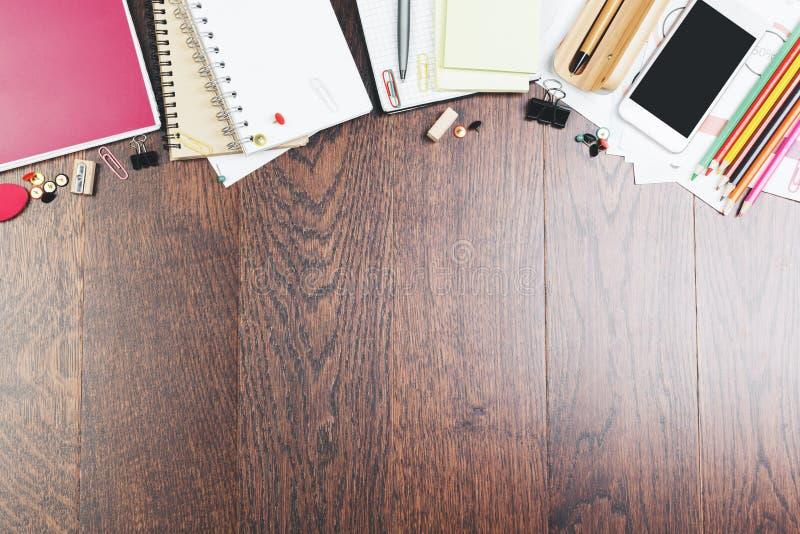 有项目的木工作场所 免版税库存图片