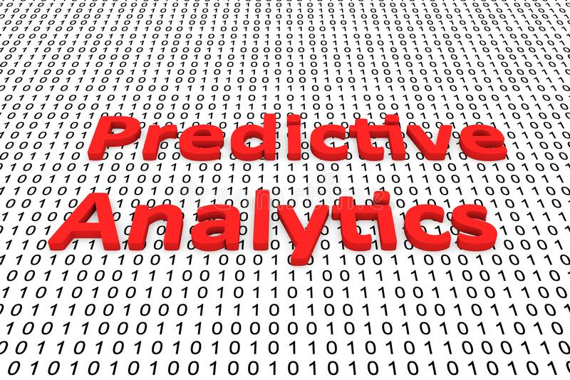 有预测性的逻辑分析方法 库存例证