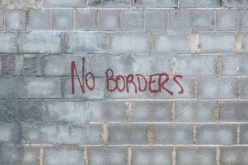 有题字的墙壁没有边界 库存图片