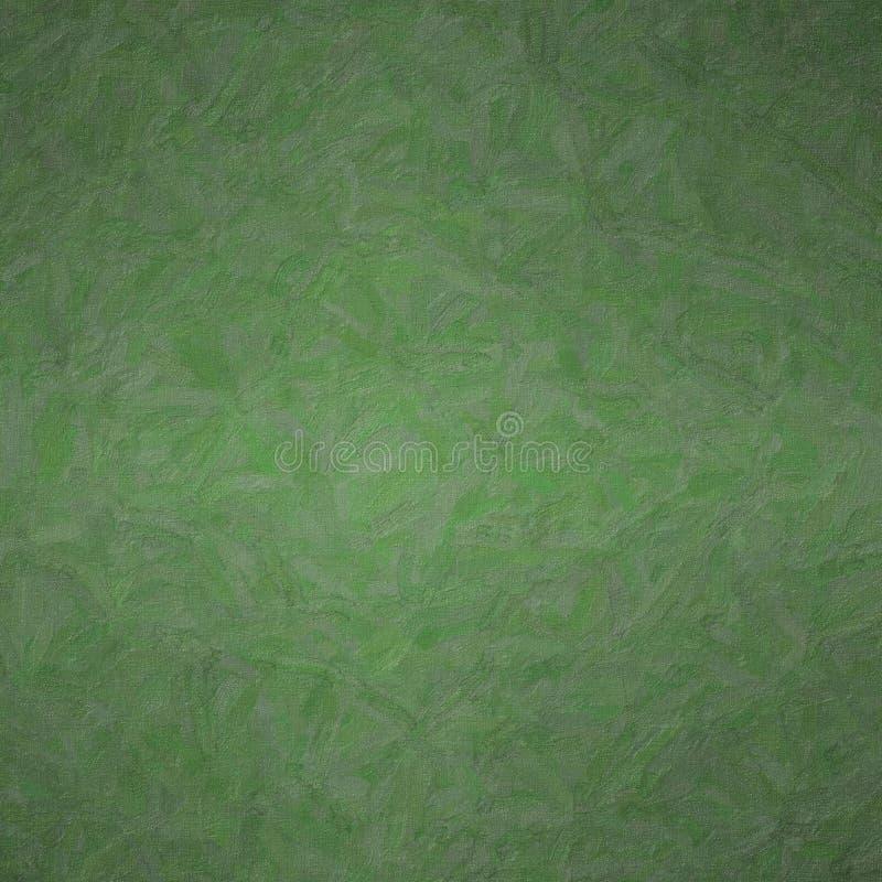 有颜色变异背景,数位引起的方形的黑暗的密林绿色Impasto的抽象例证 免版税库存图片