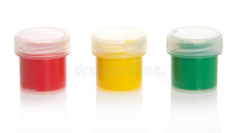 有颜色的瓶子 免版税库存图片