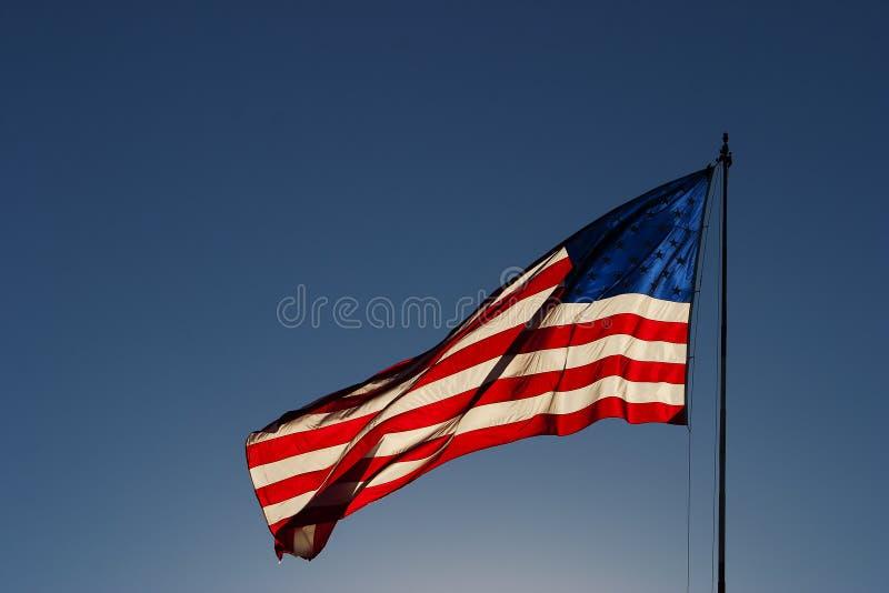 有风美国旗子3 免版税库存照片