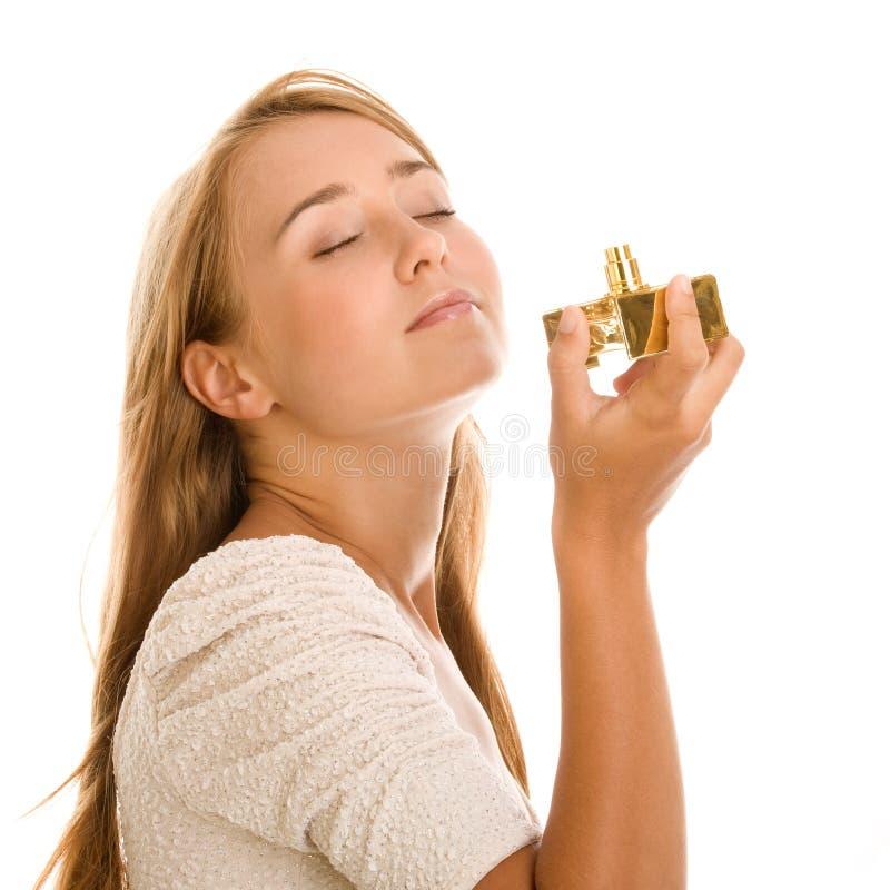 有香水的妇女 免版税图库摄影