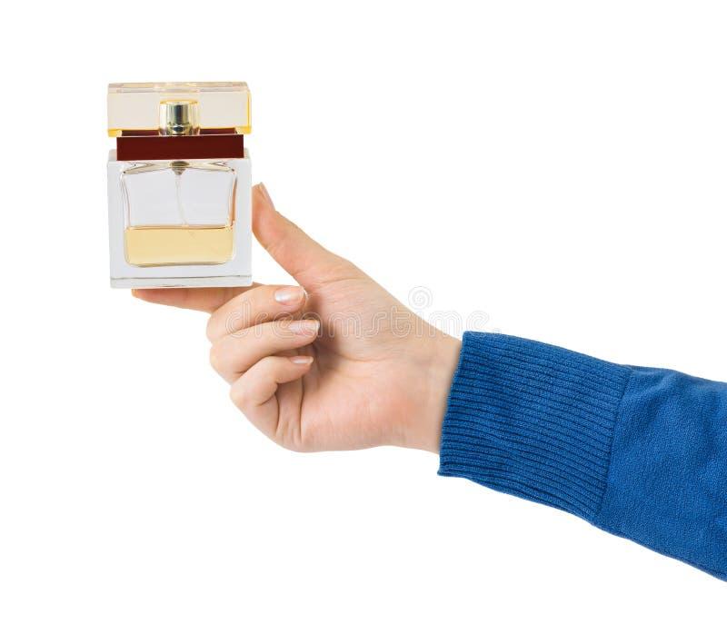有香水的手 免版税库存照片
