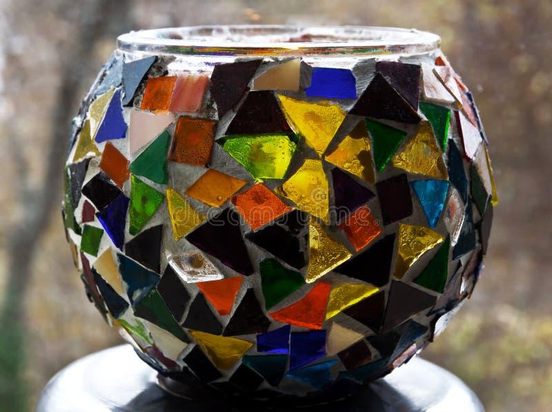 有马赛克的装饰花瓶 库存照片