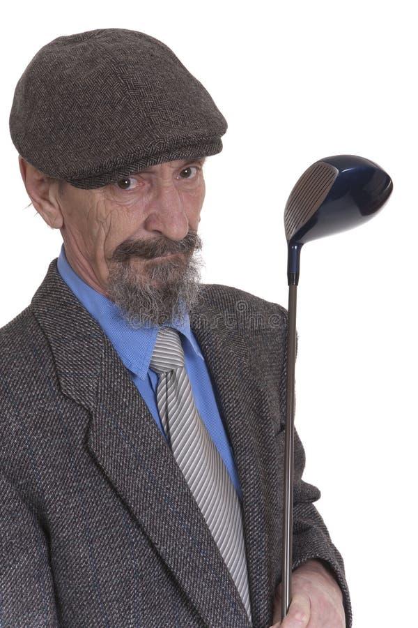 有高尔夫俱乐部的人 免版税图库摄影