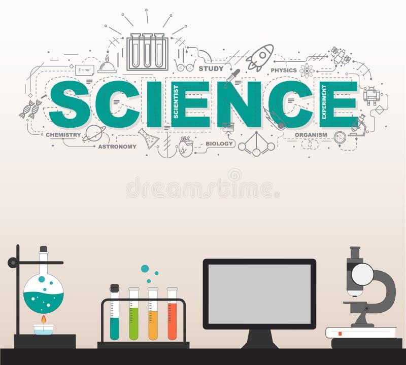 有高技术infographic设计的科学实验室 皇族释放例证