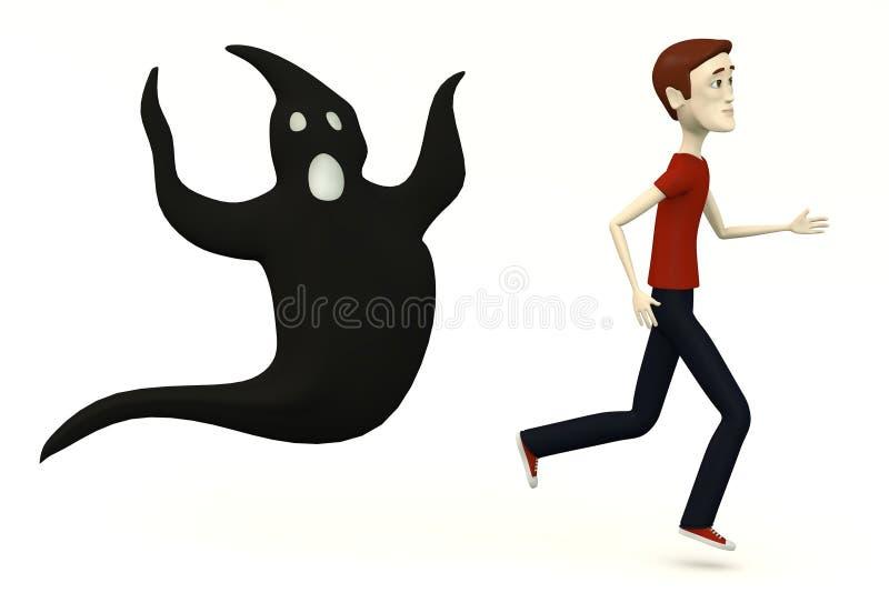 有鬼魂的动画片人 向量例证