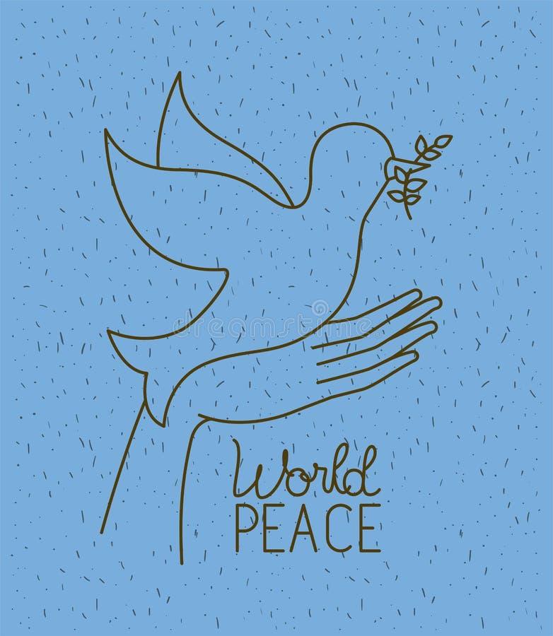 有鸠世界和平的手 向量例证
