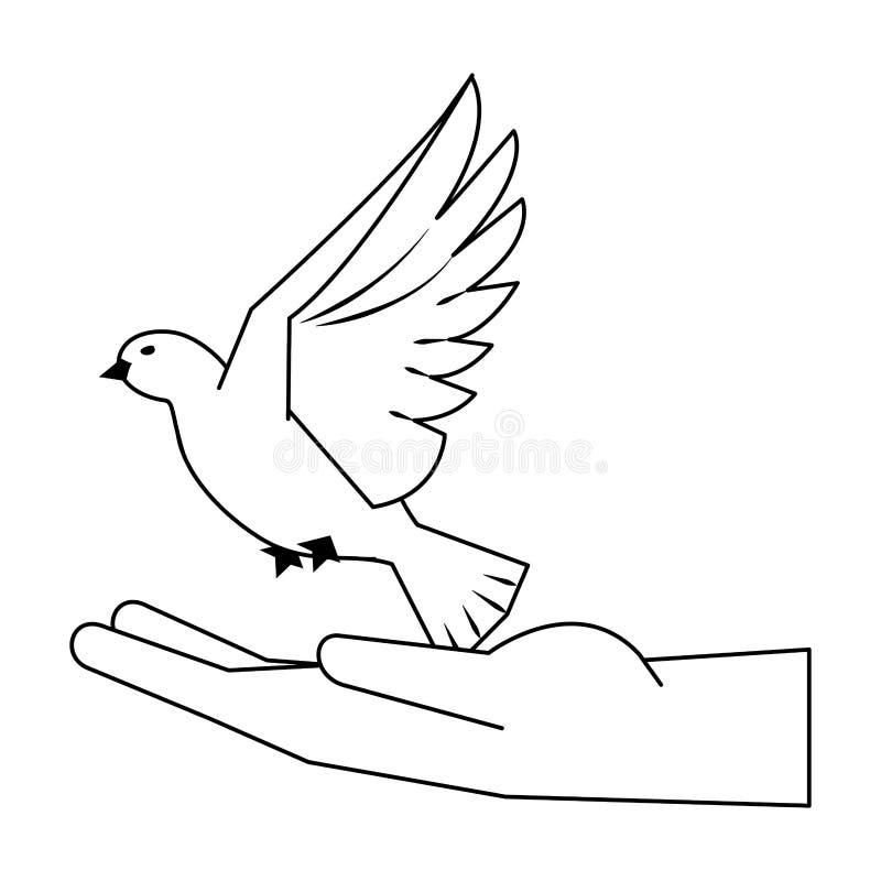 有鸠飞行动画片的黑手党在黑白 皇族释放例证