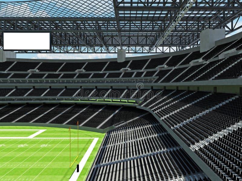 有黑位子的现代橄榄球体育场 向量例证