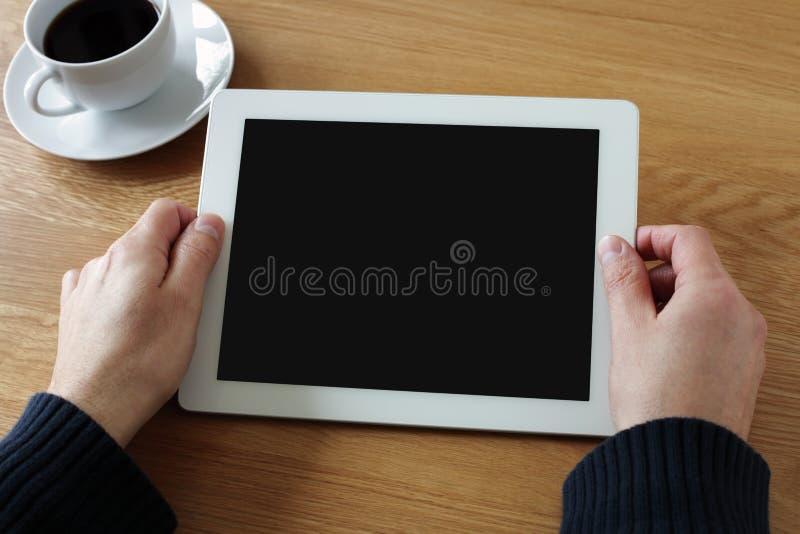 有黑屏的数字式片剂 免版税库存图片