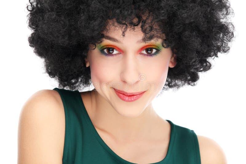 有黑色非洲的发型的妇女 图库摄影