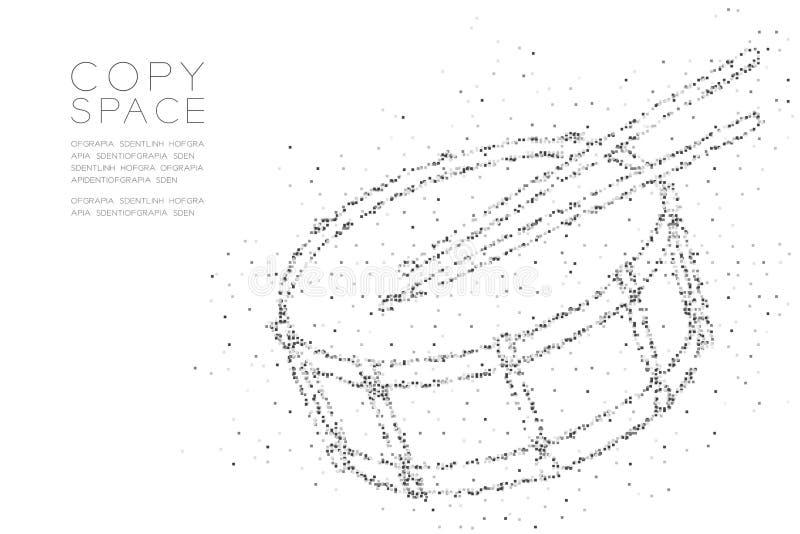 有鼓槌形状的,音乐构思设计黑色彩色插图抽象几何方形框映象点样式军鼓 皇族释放例证