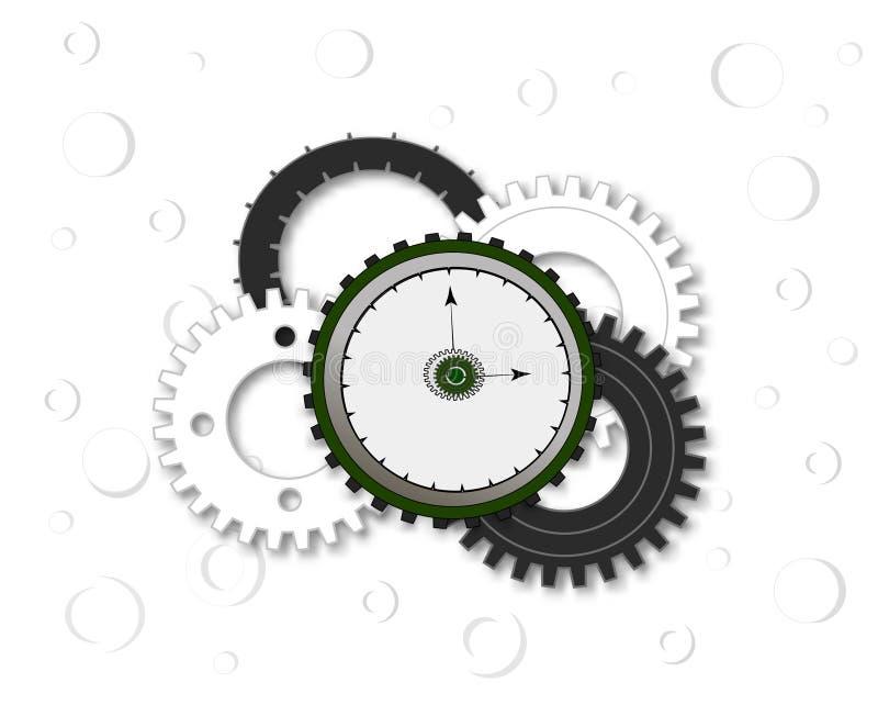 有齿轮的手表 向量例证