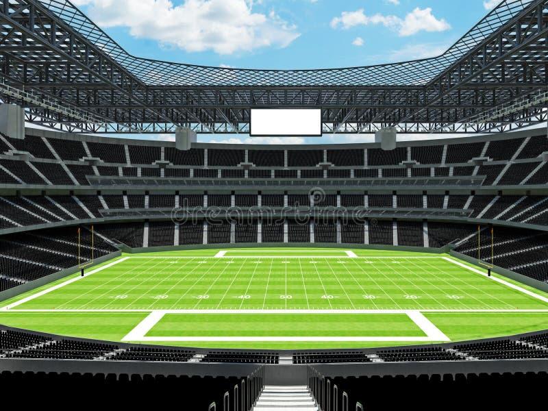 有黑位子的现代橄榄球体育场 皇族释放例证