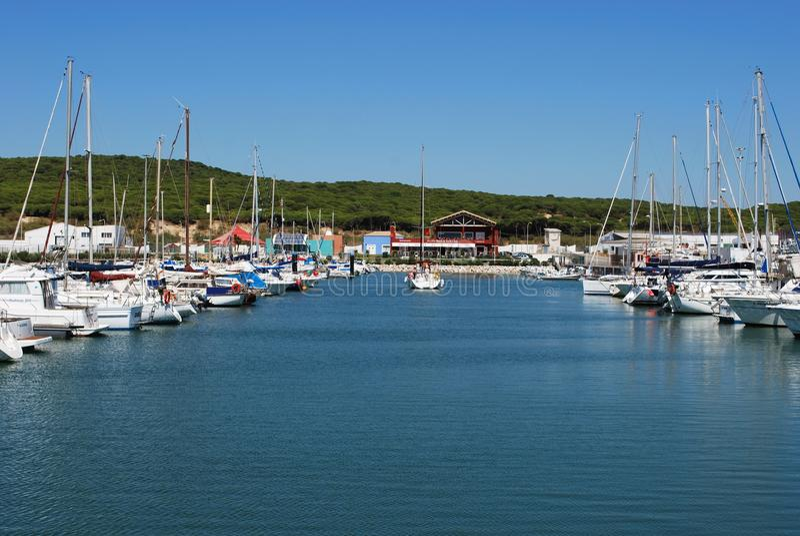 有须小游艇船坞,西班牙 免版税库存照片