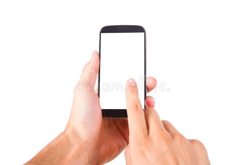 有黑屏的巧妙的电话 免版税图库摄影