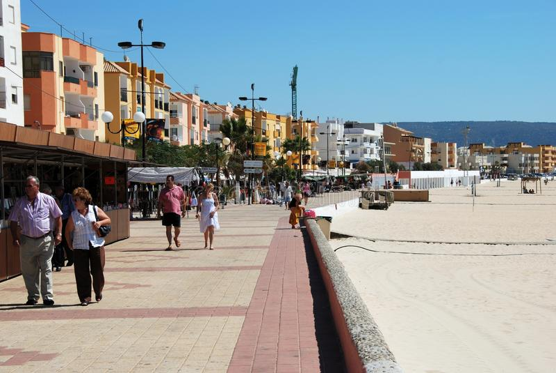 有须散步和海滩,西班牙 免版税库存照片