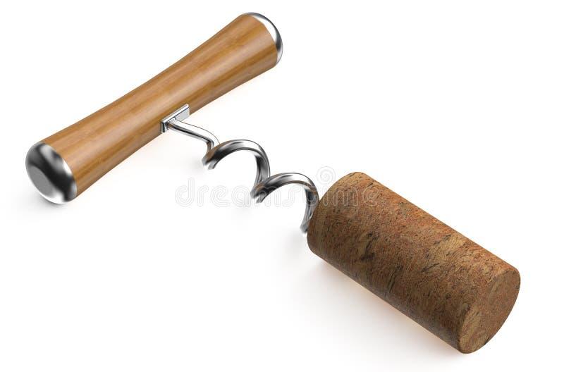 有黄柏的基本的拔塞螺旋 库存例证