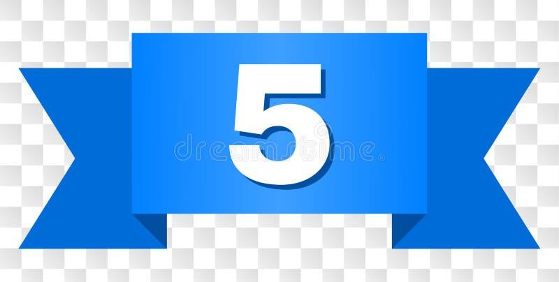 有5标题的蓝色磁带 皇族释放例证