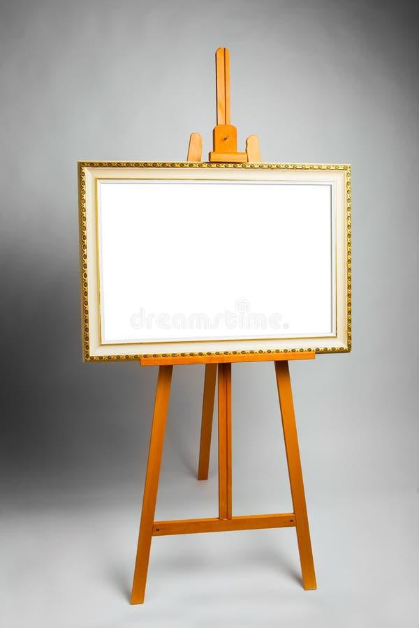 有绘画框架的画架 免版税库存照片