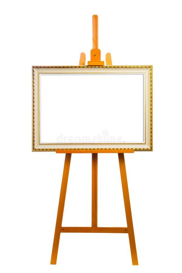 有绘画框架的画架 库存照片