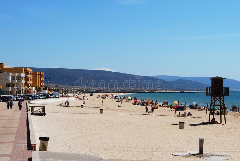 有须海滩,西班牙 免版税库存图片