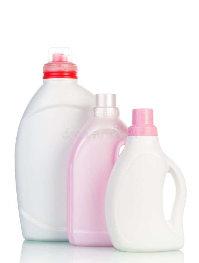 有洗涤的流体的瓶 库存照片