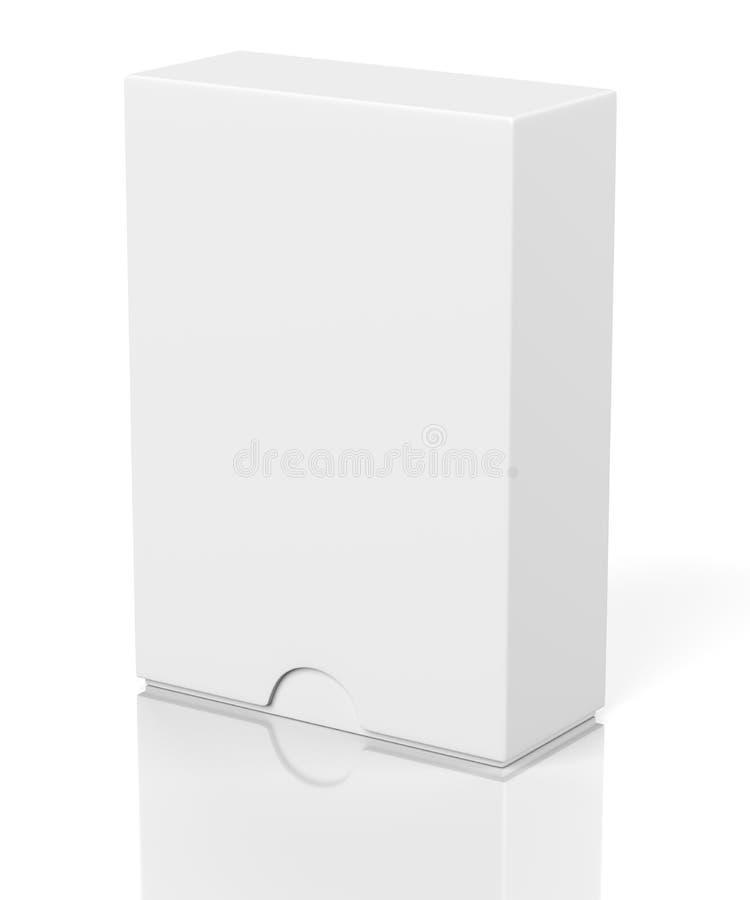 有幻灯片盖子的关闭框在白色 皇族释放例证
