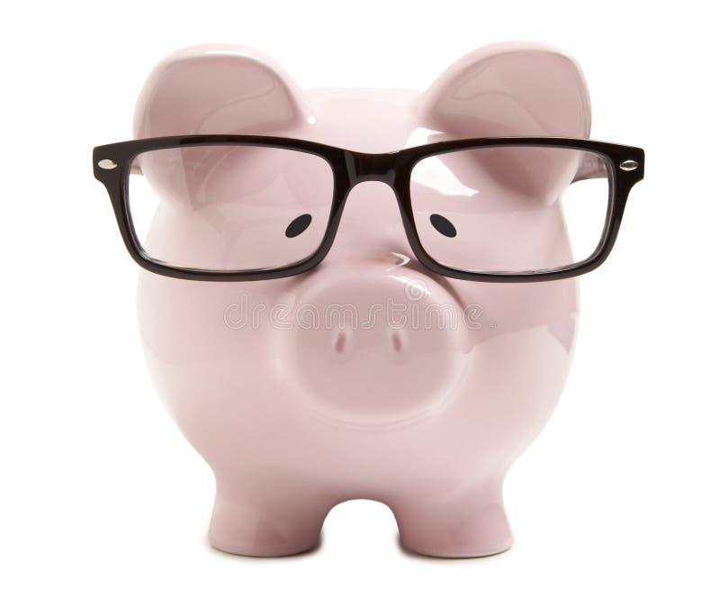 有玻璃的存钱罐 免版税库存图片