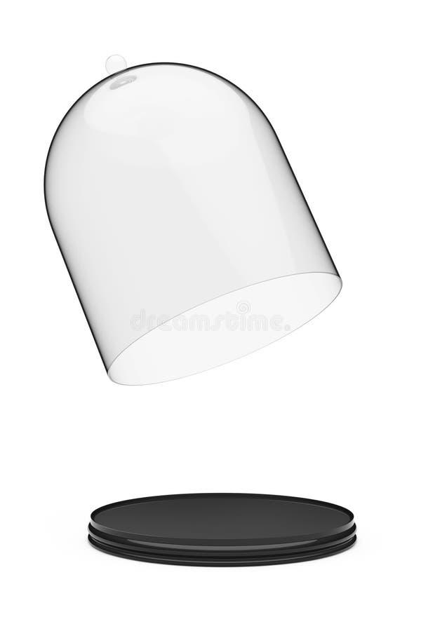 有玻璃盖的盘子 3d翻译 库存例证