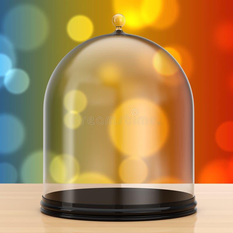 有玻璃盖的盘子 3d翻译 向量例证