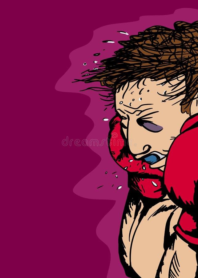 有黑眼睛的拳击手 皇族释放例证