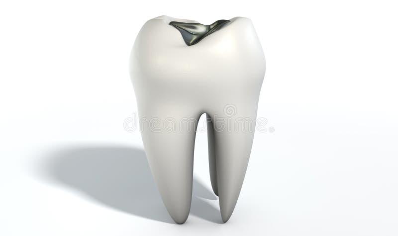 有主角装填的牙 免版税库存图片