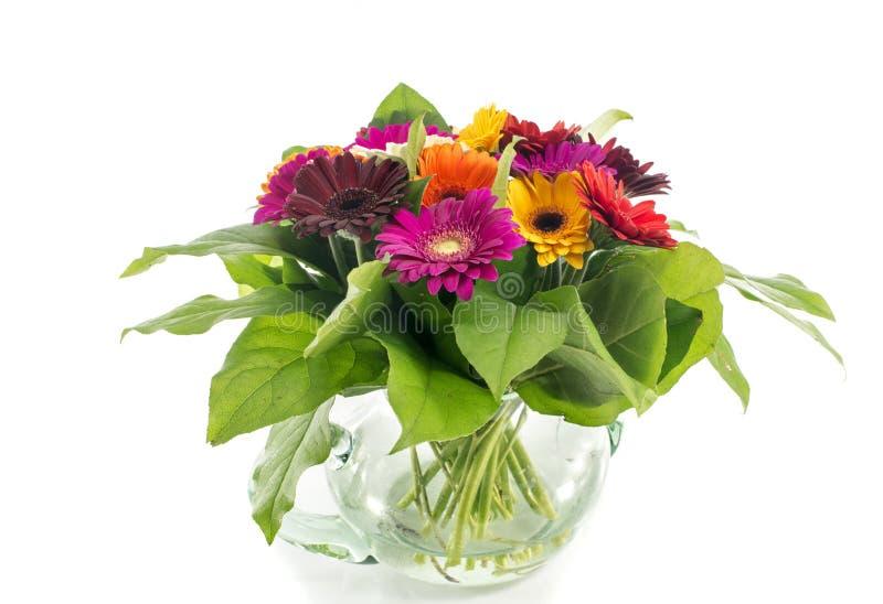 有bouquest的花瓶gerbra 免版税库存照片