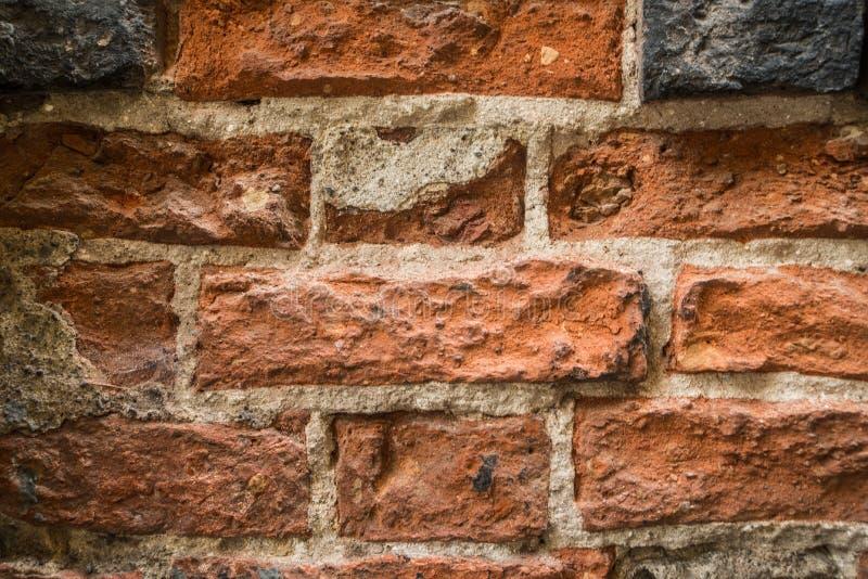 有brickstones的中世纪墙壁 库存图片