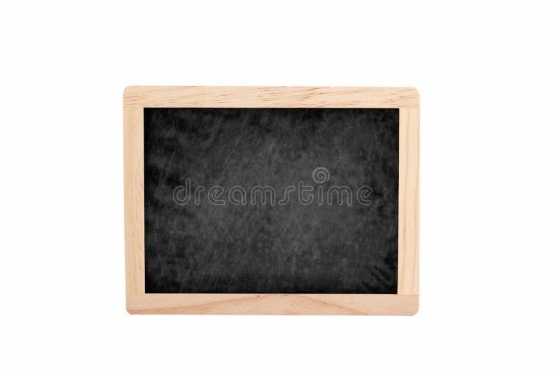 有copyspace的空的黑板在白色背景 免版税库存照片