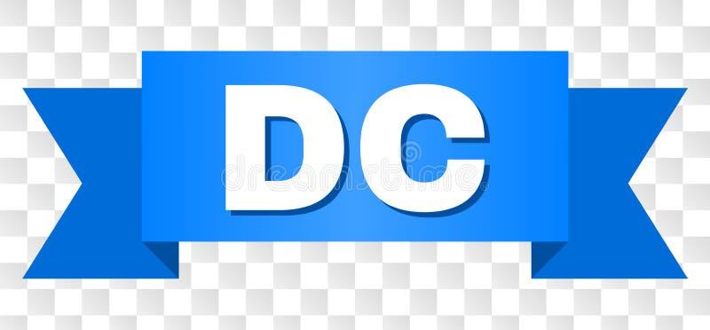有DC文本的蓝色磁带 向量例证